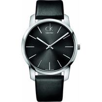 Reloj Calvin Klein City Análogo Piel Negra Garantia K2g21107