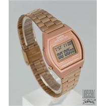 Reloj Casio B640 Rosa Cobre Metalico Retro Clasico Vintage