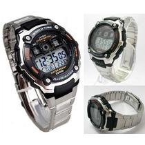 Reloj Casio Ae2000 Resistencia Al Agua 5 Alarmas Iluminator