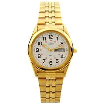 Reloj Citizen Bk3792-74a Dorado Original **envio Grtis**