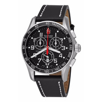 Reloj Victorinox Classic Cronógrafo Piel Negra 241444