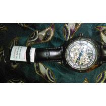 Reloj Cuerda Muñeca Nuevo Plateado