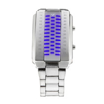 Relógio De Pulso Digital De Masculino C Luz De Led Azul