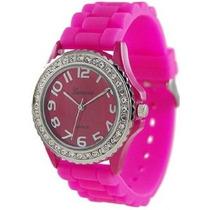 Reloj De Cuarzo De Ginebra Mujeres Platinum 6886.hotpink Ros