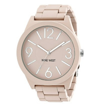 Reloj De Dama Nine West Nw/1679pkpk Matte Pink Rubberized