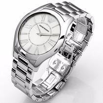 Reloj Emporio Armani Ar2055 De Hombre Color Plata Hermoso!!