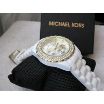 Moderno Reloj Michael Kors Blanco Fechador Subasta 1 Peso