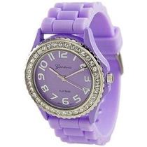 Reloj De Cuarzo De Ginebra Mujeres Platinum 6886.lavender Pú