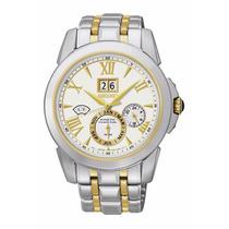 Reloj Seiko Calendario Kinetic Perpetual Acero Blanco Snp066