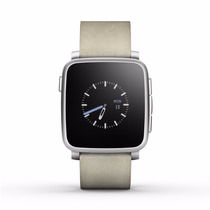 Pebble Time Steel Smartwatch For Apple/android Devices - Sil