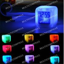 Oferta Reloj Led Cubo Cambia 7colores Digital Regalo Navidad