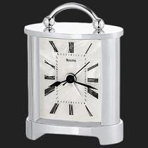Bulova Caja De Metal Reloj-despertador De Mesa