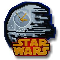 Reloj De Pared Estrella De La Muerte Star Death, Mod.8 Bits