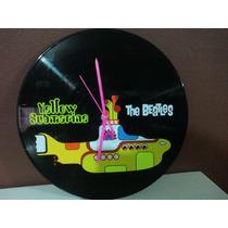 Reloj De Pared The Beatles Y Yellow Submarine Dmm