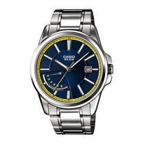 Reloj Casio Caballero Mtp-e102 Azul Retro Analogo Fecha Hm4