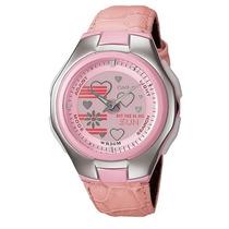 Reloj Casio Dama Poptone Lcf 10 Piel Cronometro 5 Alarmas