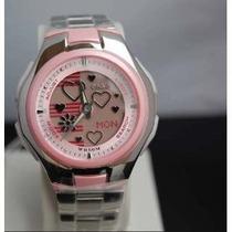 Relojes Casio Poptone Lcf10d Rosa W Time Crono