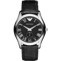 Reloj Emporio Armani Clásico Piel Negro Ar1708 Envio Gratis