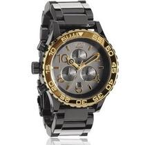 Reloj Nixon 42 20 Acero Negro Chrono A037-1228 Garantia