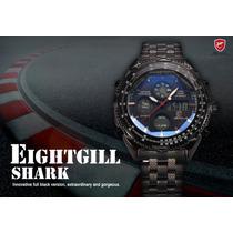 Reloj Shark Eightgill, Version Negra