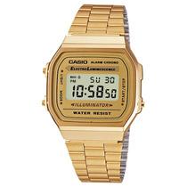 Reloj Casio A 168 Wg Dorado Clasico Retro Vintage