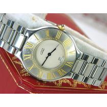Reloj Must De Cartier Siglo Siglo 21 Caja De 35mm En Acero.