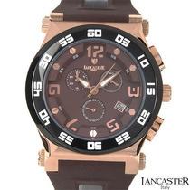 Reloj Lancaster Italiano, Cronógrafo Acero Poliuretano C Sp0