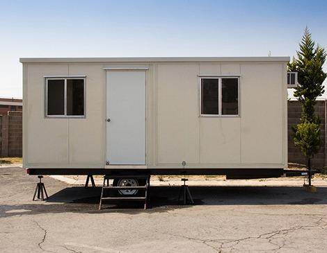 Remolque nuevo oficina movil camper cabina 6 mts caseta for Oficinas moviles
