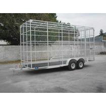 Remolque Multiusos Jaula Plataforma Camionetas Camion Malla