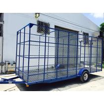 Remolque Jaula Ciclonica Reciclaje Pet Camioneta Camion Mex