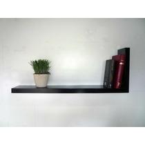 Repisas Flotantes Minimalistas Forma L,muebles El Angel Mn4