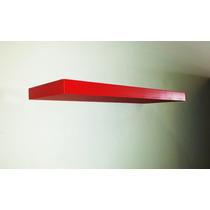 Repisa Flotante Minimalista 80 Cm Magica Roja Moderna Mdf