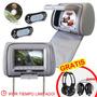 Cabecera Con Dvd Reproductor Audifonos Gratis 7 Pulgadas