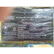 Bateria Recargable Selladas 6 Volts 12 Amperes 660060