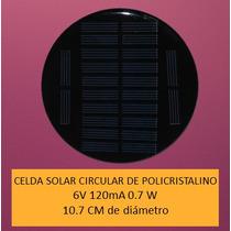 Celda Solar 6v 120ma 0.7w