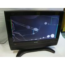 Tv Lcd Sharp 26 Lc-26d40u Display Roto Para Refacciones