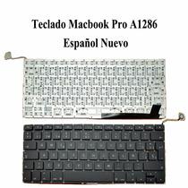 Teclado Español (sp) Apple Macbook Pro 15 A1286 Color Negro