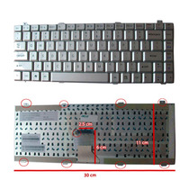 Teclado Gateway M6000 M1600 M150x M6801 M6802 Plata Español