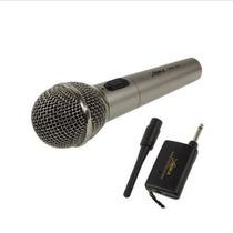 Micrófono De Mano Inalámbrico / Receptor C Cable E Antena