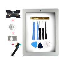 Touch Screen Ipad 4 Cristal Pantalla Blanco + Adhesivo Kit