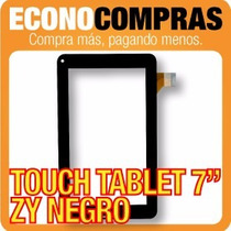 Touch Tablet China 7 Universal Zy Color Negra 100% Nueva!!!!