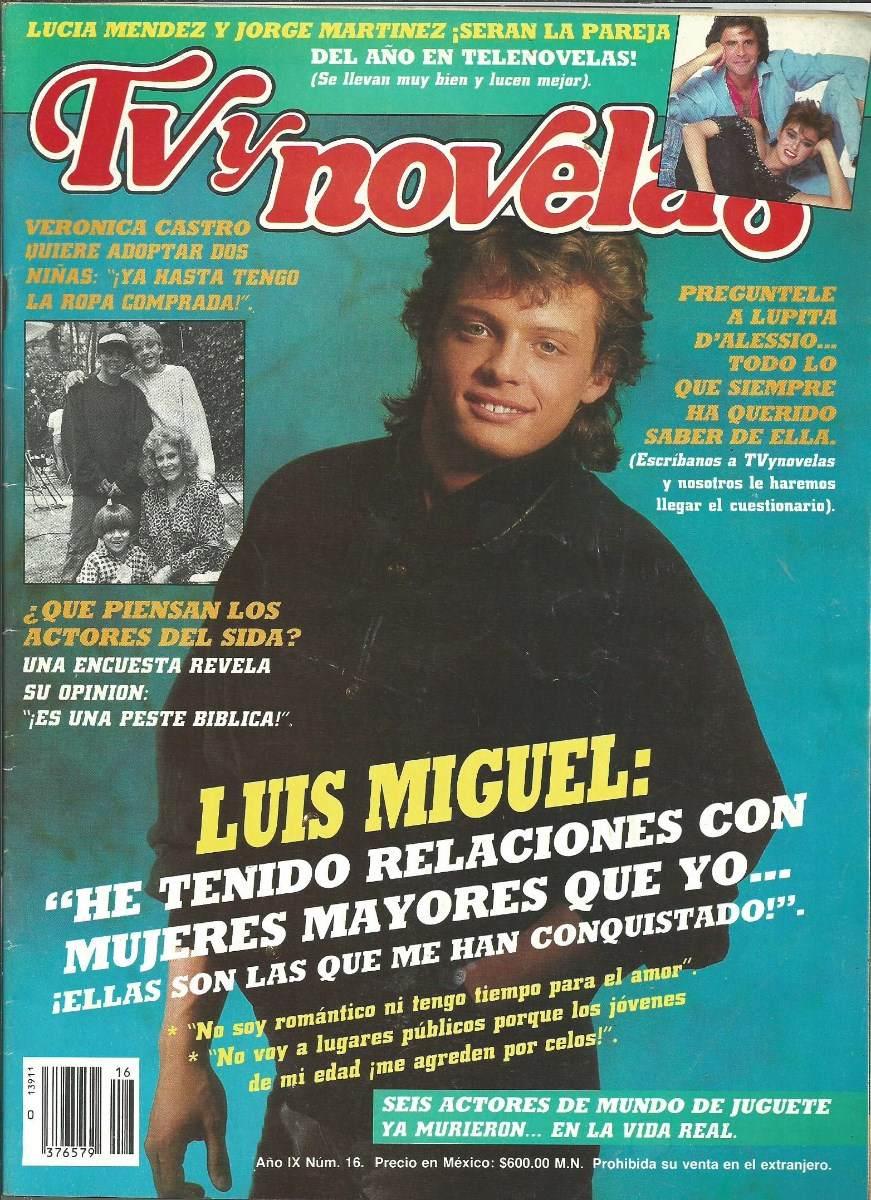 Tv y novelas en la portada luis miguel click for details revista tv