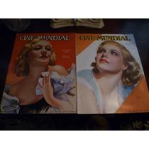 Par De Revistas Cine Mundial Del Año 1936 Son Los Numeros