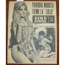 Revista Cinemundial,gina Lollobrigida,angela Bartoli