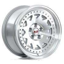 Rin Er 075 M F Silver Polish Face 15x8 5x100 Et25 5b ¡nuevo!