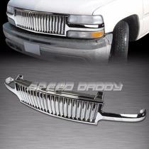 Parrilla Cromada Vertical Chevrolet Silverado 99 00 01 02
