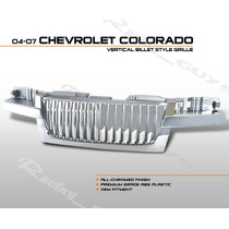 Parrilla Cromada Lujo Vertical Chevrolet Colorado 04 05 07