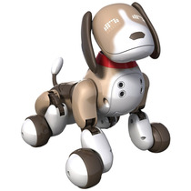 Zoomer Robot Perro Cachorro Interactivo Recarga Usb - Cafe