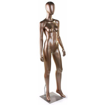 Maniqui Femenino Fibra De Vidrio Abstracto Color Bronce