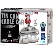 4m Tin Can Cable Car Teleferico Kit De Ciencia P/armar